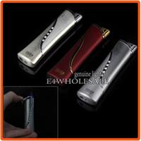 Wholesale Cigar Gadgets Gifts - Unique Design Slim Jet Flame Cigarette Cigar Girls Gift Gadget Gas Butane Lighter