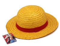 Wholesale One Piece Luffy Hat - ONE PIECE LUFFY Anime Cosplay Straw Cap Luffy's Hat