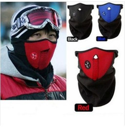 Wholesale Winter Motorcycle Hat - 2014 Thermal Neck Warmers Fleece Balaclavas Cs Hat Headgear Winter Ski Mask Ear Windproof Warm Face Motorcycle Bicycle Scarf