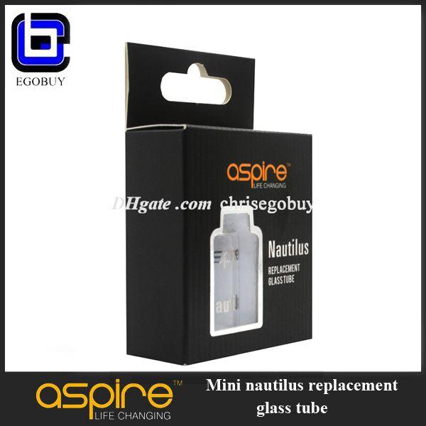 E-cigarette Aspire mini Nautilus replacement pyrex glass tank stainless tube for 2.0ml aspire Nautilus mini replacement BVC coil atomizer cf