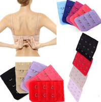 Wholesale Wholesale Bras Free Shipping - 10pcs Lots Hot Sell Bra Extenders Strap Extension 2 Hooks Women Accessories Random Color Free Shipping