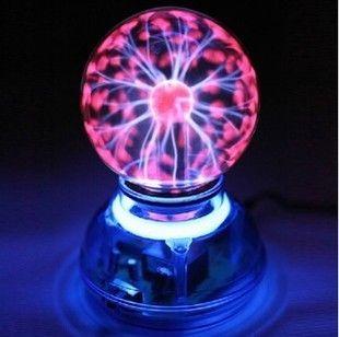 Magic Glass Plasma Ball Car Air Freshener Crystal Neon Sphere Negative Ion Car Interior Light Sound Music Voice Control