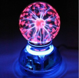 Wholesale Plasma Crystal Ball - Magic Glass Plasma Ball Car Air Freshener Crystal Neon Sphere Negative Ion Car Interior Light Sound Music Voice Control