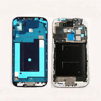 Wholesale Home Button 3g - For Samsung Galaxy S4 3G 4G i9500 I9505 I337 Middle mid Frame front Plate Bezel Chassis Housing + adhesive & home button flex cable 10pcs