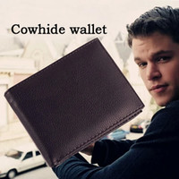 Wholesale Coin Wallets - 2017 fashion men's cowhide genuine leather cross wallet 3 fold short purse with coin pocket wallets for men free shipping