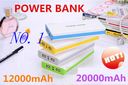 Wholesale Universal Cell Phone Battery Backup - Wholesale - - power bank 20000mAh Colorful Universal Power Bank External Battery Backup USB Portable Cell Phone Chargers 20