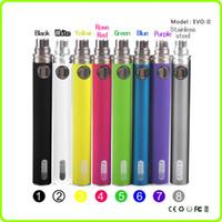 Wholesale Gs Vivi Nova - EVOD II E Cigarette Battery 650mAh 900mAh 1100mAh GS EVOD II Battery Fit MT3 GS H2 Vivi Nova Protank DCT E Cig Atomizer