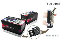 Wholesale Rohs Batteries - Top Quality E Cigarette Matrix Ninja ROHS E Cig Starter Kit 360 Degree Rotation Bottom Coil T5 Cleromizer with 650mah EGO T Battery