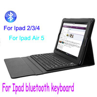 Wholesale Apple Ipad Leather Case Keyboard - Christmas Gift Keyboard Leather Case for iPad 2 3 4 Ipad Air 5 Stand Case Wireless Bluetooth Keyboard Case Retail Package