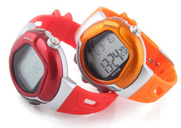 Wholesale Heart Rate Pulse Calorie Watch - Pulse Heart Rate Counter Calories Monitor Sport Watch Men Women Sports Watches#3580