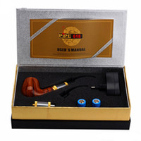 Wholesale E Smoke Set - E pipe 618 Health Smoking Pipe Electronic Cigarette E Pipe Imitate Solid Wood Design With Best Top-grade Package Set