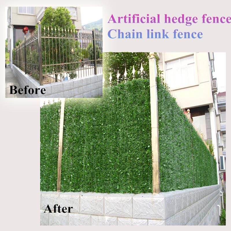 12 Sqm Artificial Hedge Mat 1m 3m Fake Grass Fence Privacy