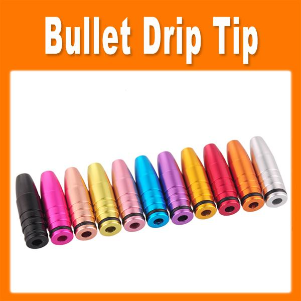 Colorful drip tip aluminum bullet mouthpiece for EGO E Cigarette Vivi Nova DCT 510 Cartomizers 0201037