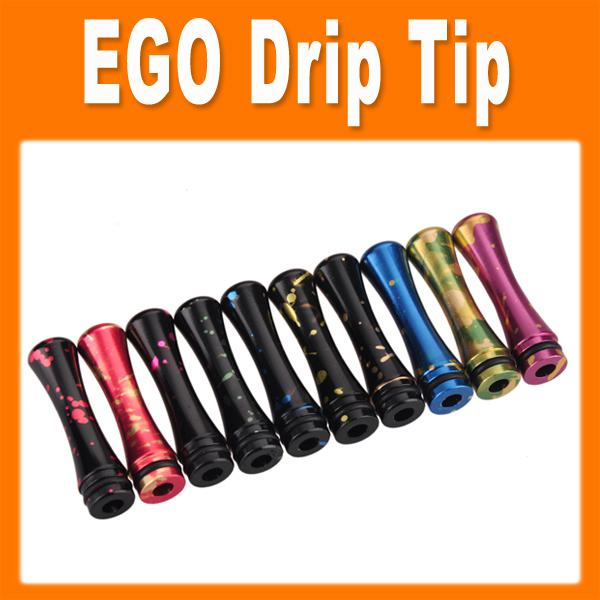 Spot aluminum mouthpiece long and thin drip tip for EGO E Cigarette Vivi Nova DCT 510 Cartomizers0201038