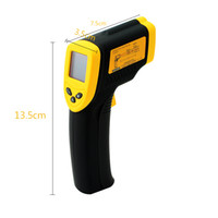 Wholesale Infrared Ir Laser - Non-Contact Digital Infrared IR Thermometer With Laser -50~+380'C D:S=12:1 Termometer LCD DT8380 FDA FCC CE