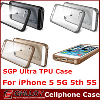 Wholesale Iphone 5g Tpu - Ultra Hybrid Super Slim Hybrid Case TPU Bumper Transparent Rear Panel Cover for iPhone 5 5G 5th 5S free shipping 50PCS UP