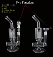 Wholesale Armed Store - Top Quality two function Glass Bong Water Pipe 8 Arm Perc Percolator Clear Glass 18.8mm Smoking Hookahs Free Shipping from Vipline Store