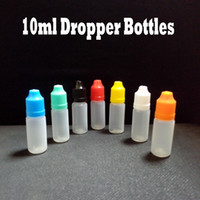 Wholesale Ego Ce4 Bottle - Plastic Dropper Bottle 10ml For Electronic Cigarette ego E Cig ce4 With Childproof Cap And Long Thin Tip Empty Dropper Bottles 2500 Pcs Lot