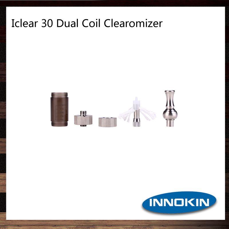 Innokin iClear 30 Clearomizer Bouche ronde Drip Tip iClear30 Électronique Cigarette Atomiseur avec Top Dual Coil 100% Original