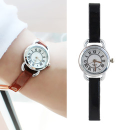 Wholesale Thin Leather Watch For Women - Fashion White Black Color Thin PU Leather Wristband higH Quality Digital Wrist Watch For Women