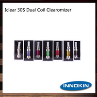 Wholesale glass iclear resale online - Innokin iClear s Atomizer With Rotatable Drip ml Dual Coil iClear s Clearomizer Original DHL Free