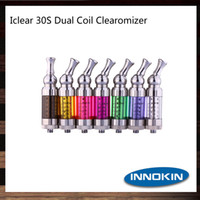 Wholesale Dual Coil Clearomizer 3ml - Innokin iClear 30s Atomizer With Bottom Dual Coil 3ml iClear 30s Clearomizer With Rotatable Drip Tip 100% Original