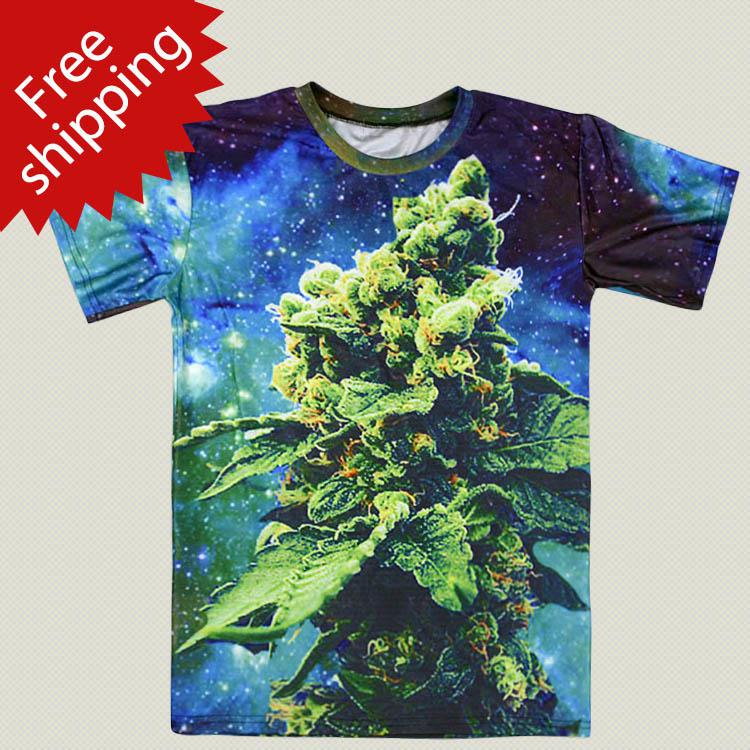 Factory Outlet Weed Galaxy T Shirt Women Femininas Roupas ...