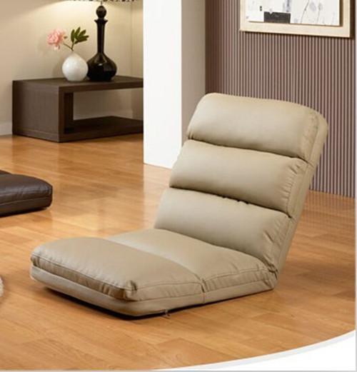 Reclining Ledermöbel Online Wohnzimmer Beige / Braun Faltbare  Bodensitzstuhl Verstellbarer Stuhl Lesisure Chaise Lounge Liegender