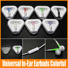 $enCountryForm.capitalKeyWord Canada - HOT In-Ear Earbuds Colorful Earphone With Mic 3.5mm Handsfree For Apple IPhone 5 5G 5S i6 i6 plus For MP3 Headset with Triangle BOX 100pcs