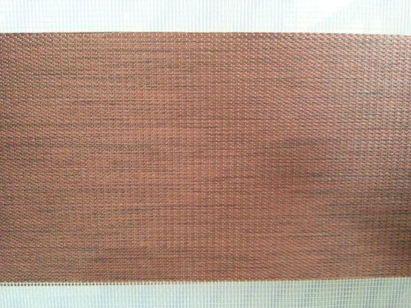 블랙 아웃 롤러 얼룩말 블라인드 브라운 100 % 폴리 에스터 리넨 럭셔리 커튼 맞춤 GH03-004에 커튼