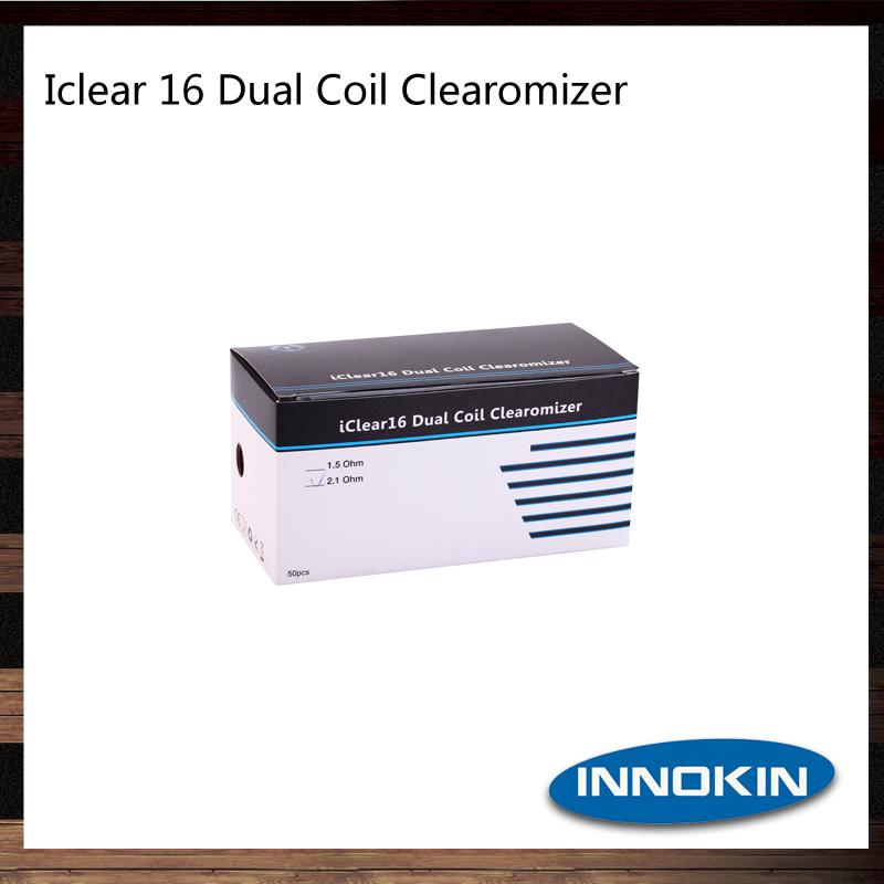 Original Inneokin Iclear 16 Atomizer 3ml Round Mouth Iclear 16 Dual Coil Clearomizer