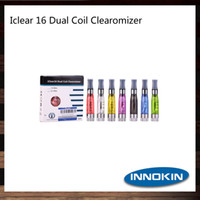 iclear 16 dual coil clearomizer großhandel-Innokin iClear 16 Clearomizer 1.6ml Wiederaufbaubarer Dual Coil iClear 16 Zerstäuber 100% Original