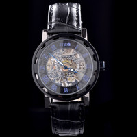 Wholesale Mce Black - Free shipping MCE Brand Black leather Luxury Style Men's watch Automatic mechanical watch for MC14