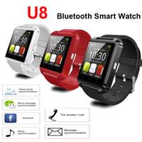 u8 akıllı izleme ekranı toptan satış-Bırak Gemi U8 Akıllı Seyretmek Telefon Mate Bluetooth Smartwatch Saatler U İzle Samsung S4 için Dokunmatik Ekran Not 3 3 HTC Android iPhone 5 5 S 4 S