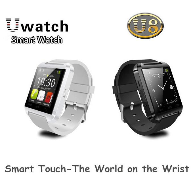 Drop Ship U8 Smart Watch Phone Mate Bluetooth Smartwatch Wristwatch U Watch Touch Screen for Samsung S4 Note 2 3 HTC Android iPhone 5 5S 4S