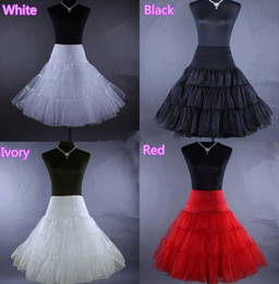 Wholesale Swing Back - In Stock White Ivory Red Back Petticoats 2018 Hot A-line Short Petticoat Retro Underskirt Swing Tutu Unique Design Free Shipping