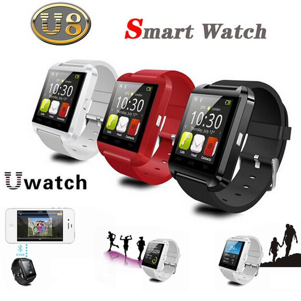 Smart Watch U8 U Orologio Phone Touch Screen Bluetooth Smartwatch Sport Orologio da polso per Samsung S4 Note 3 HTC Android iPhone 30PCS