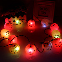 Wholesale Haunted Bar Decorations - Halloween LED Strings 12 Pumpkin String Light Fairy Lights Festival Lamp Halloween Props Haunted House Supplies Bar Decoration String Lights