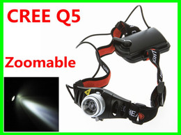 Wholesale Mining Cordless - Ultra Bright Cordless Mining CREE Q5 LED Lamp Head light Torch Headlamp Zoomable for Camping Hiking Hunting Free Shipping