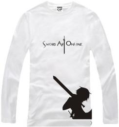 Envío gratis nueva llegada anime japonés Sword Art Online Impreso manga larga camiseta anime Tee 100% algodón 6 color desde fabricantes