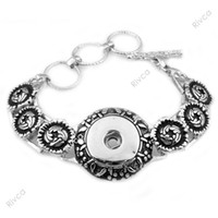Wholesale Shell Buttons China - F00156 new hottest classic noosa chunks bracelet snap button jewelry