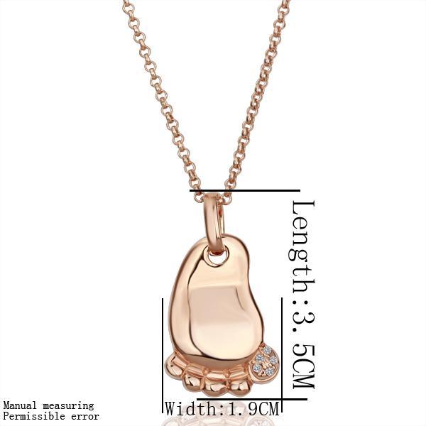 Envío gratis 18 K GP chapado en oro collar de la joyería pie fino cristal del rhinestone níquel colgante collar TPN072