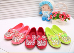 Baskets En Gros Pour Enfants Pas Cher-Wholesale-Cartoon Design Chaussures pour enfants Kids Girls Sneakers Princess Bowknot Chaussures Casual Shoes