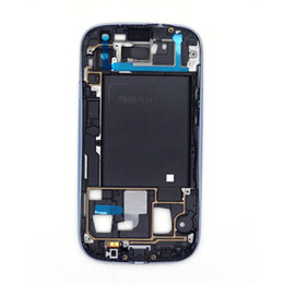 Wholesale I747 Digitizer Blue - Wholesale - -OP-100% Gurantee Full Size For Galaxy S3 i747 T999 LCD Touch Digitizer Screen Assembly + Frame for Samsung Blue US