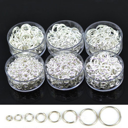 Wholesale Open Jump Rings 8mm - Wholesale Silver Plated Open Jump Rings Jewelry Making Findings 3mm 4mm 5mm 6mm 7mm 8mm