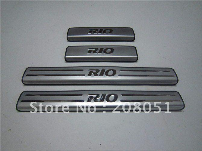 2019 Kia Rio Stainless Steel Door Sill Plate Door Entry Guard Door
