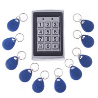 Wholesale Rfid Proximity Entry Door - RFID Entry Keypad Metal Door Lock Security Proximity Access Control System + 10 Key Fobs H4391