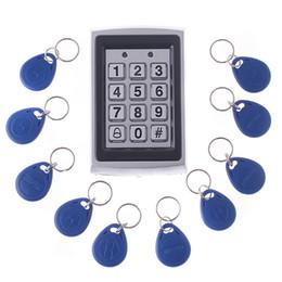 Wholesale Door Keypad System - RFID Entry Keypad Metal Door Lock Security Proximity Access Control System + 10 Key Fobs H4391