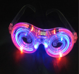Wholesale Glow Glasses Wholesale - LED Glowing glasses concert cheer Halloween props lollipop glasses toys Led Rave Toy Christmas gifts