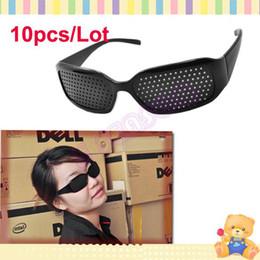 Wholesale Improving Eyesight - 10pcs Lot Unisex Eyesight Vision Improve Pinhole Glasses, Eyes Exercise Glasses 625